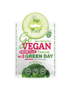 7Days GoVegan Salad Sheet Face Mask Wednesday Green Day Wyrównująca koloryt maska w płachcie 25g