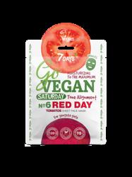 7Days GoVegan Tomato Sheet Face Mask Saturday Red Day Nawilżająca koloryt maska w płachcie 25g