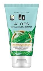 AA Aloes 100% Aloe Vera Extract Żel do mycia twarzy regenerująco - kojący 150ml