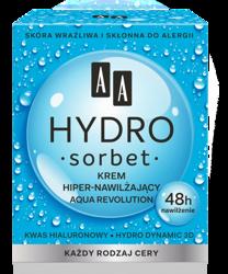 AA HYDRO SORBET Aqua revolution Krem Hiper-nawilżający 48h 50ml