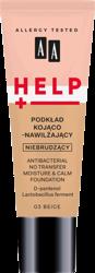 AA Help Podkład do twarzy kojąco-nawilżający 03 Beige 30 ml