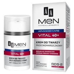 AA MEN Advanced Care Vital 40+ Przeciwzmarszczkowy krem do twarzy 50ml