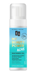 AA My Beauty Power Acne Złuszczająca pianka do mycia twarzy 150ml