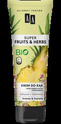 AA Super Fruits&Herbs krem do rąk ananas/szałwia 100ml
