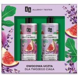 AA ZESTAW Super Fruit&Herb Owocowa uczta dla ciała Żel do mycia ciała + balsam do ciała