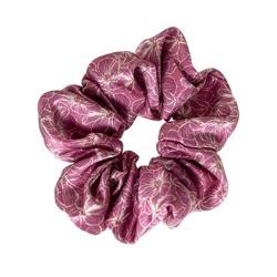 ALMANIA Scrunchie Jedwabna gumka do włosów Różowe Kwiaty