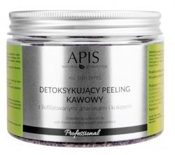 APIS Detoksykujący peeling kawowy z liofilizowanymi ananasami i kokosem 300g