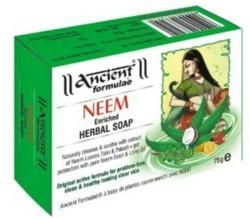 Ancient Neem Herbal Soap - Mydło antybakteryjne do twarzy i ciała 75g