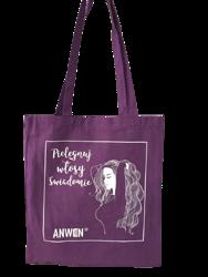 Anwen torba bawełniana Fioletowa