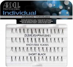 Ardell Individuals Flare - Kępki krótkich rzęs bez węzełków czarne Short 56 sztuk