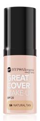BELL Great Cover make-up Intensywnie kryjący podkład w musie 04 Natural Tan 20g