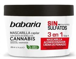 Babaria Maska do włosów z olejem konopnym 3w1 200ml