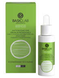 BasicLab Rozświetlenie i wyciszenie Antyoksydacyjne serum wyrównujące z witaminą C 15% 30ml