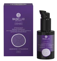 BasicLab Ujędrnienie i wygładzenie Stymulujący peeling kwasowy 30ml