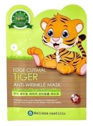 Belleza Castillo Tiger Anti-Wrinkle Mask - Organiczna maseczka przeciwzmarszczkowa w płachcie 25g