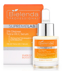 Bielenda Professional SupremeLab Energy Boost Tetra Vit-C Serum 5% olejowe 15ml