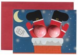 Bomb Cosmetics Kartka świąteczna z kulami musującymi do kąpieli Help Santa!