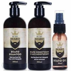 By My Beard Zestaw do pielęgnacji brody Szampon 300ml + odżywka 300ml + olejek 30ml