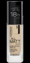 Catrice All Matt Plus Shine Control Make Up - Podkład matujący 027 Amber Beige 30ml