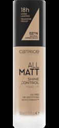 Catrice All Matt Shine Control Podkład matujący  027N Neutral Amber Beige 30 ml