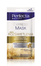 DAX Perfecta Express Mask Moc rozświetlenia koktajlowa maseczka SOS 10 ml