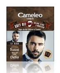Delia Cameleo Men Farba do włosów i zarostu 1.0 Black 2x15ml