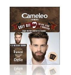 Delia Cameleo Men Farba do włosów i zarostu 4.0 Średni brąz 2x15ml