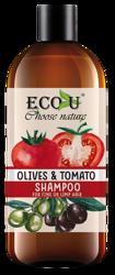ECO-U Szampon do włosów pomidor&oliwki 500ml