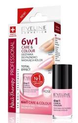 Eveline Cosmetics Odżywka do paznokci nadająca kolor 6w1 ROSE