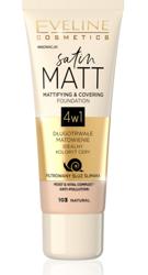 Eveline Cosmetics Satin MATT Matująco-kryjący podkład 4w1 103 Natural 30ml