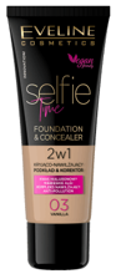 Eveline Cosmetics Selfie Time Kryjąco-nawilżający podkład i korektor 03 Vanilla 30ml