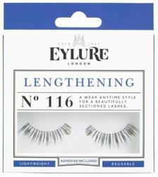 Eylure Glue On Strip - Sztuczne rzęsy na pasku Nr 116 Lengthening, 1 para + klej 1ml