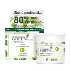 FlosLek GREEN for Skin odżywczy krem do twarzy z groszkiem na noc REFILL 50ml