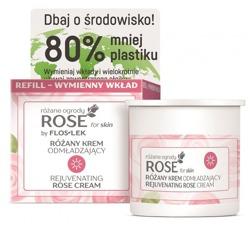 FlosLek ROSE for skin Różane ogrody Różany krem odmładzający na dzień REFILL  50ml