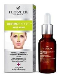 Floslek Anti Acne Peeling kwasowy normalizujący do twarzy na noc 30ml