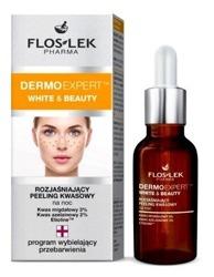 Floslek white &beauty Peeling kwasowy rozjaśniający do twarzy na noc 30ml