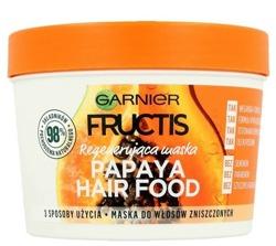 Garnier Fructis Papaya Hair Food Regenerująca maska do włosów 390ml