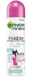 Garnier Invisible Black White Colors NEW Fresh Scent Antyperspirant w sprayu 150ml
