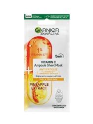 Garnier Vitamin C Ampoule Sheet Mask Ampułka rozświetlająca w masce na tkaninie z witaminą C i ekstraktem z ananasa 15g