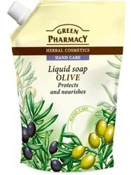 Green Pharmacy Mydło w płynie naturalne Oliwka Zapas 465ml