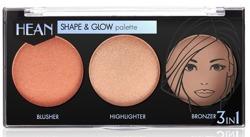 Hean Shape&Glow Palette 3in1 Paletka do konturowania twarzy 8g
