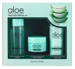 Holika Holika Aloe Soothing Essence Skin Care Special Kit Zestaw pielęgnacyjny na bazie aloesu