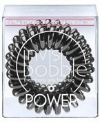 INVISIBOBBLE POWER True Black Czarna gumka do włosów, 3 sztuki