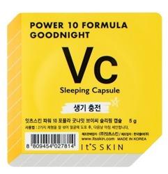 It's Skin Power 10 Formula Good Night Sleeping Capsule Vc Rozświetlająca dwufazowa maseczka całonocna w kapsułce 5g