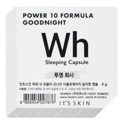 It's Skin Power 10 Formula Good Night Sleeping Capsule Wh Rozjaśniająca dwufazowa maseczka całonocna w kapsułce 5g