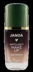 JANDA Matujący make-up fluid fleksyjny 01 Jasny beż 30ml