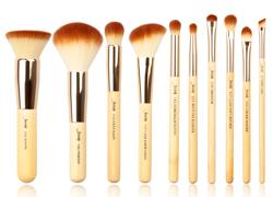 Jessup T136 Zestaw 10 pędzli do makijażu Bamboo