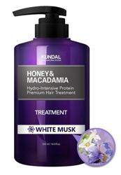 KUNDAL Honey&Macadamia Treatment White Musk Odżywka do włosów Białe piżmo 500ml