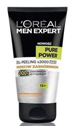 LOREAL MEN PURE POWER Peeling oczyszczający dla mężczyzn 100ml