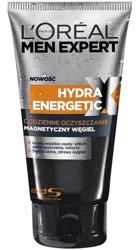 Loreal Men Expert Hydra Energetic Żel do mycia twarzy Magnetyczny węgiel 150ml